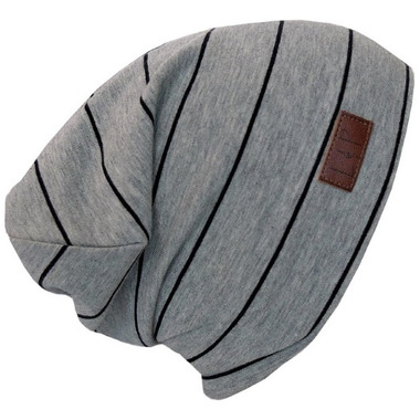 L&P Apparel Cotton Slouchy Beanie Gray & Black