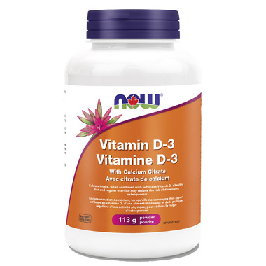 NOW Foods Vitamin D-3 Powder with Calcium Citrate