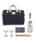 Mason Shaker Cocktail Kit in Navy Blue