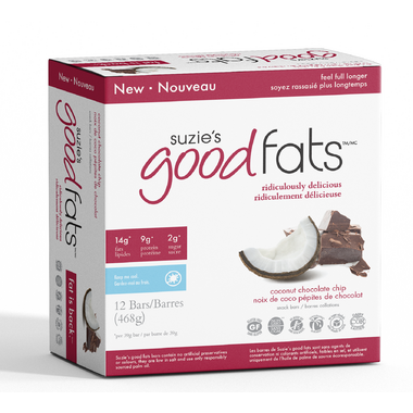 Suzie\'s Good Fats Coconut Chocolate Chip Snack Bars