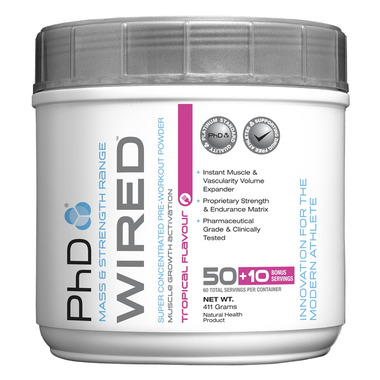 PhD Nutrition Wired Super Concentrated Pre-Workout Powder