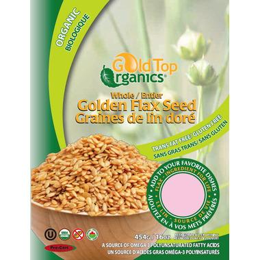 Gold Top Organics Whole Golden Flax Seeds