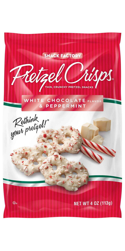 Snack Factory White Chocolate Peppermint Pretzel Crisps