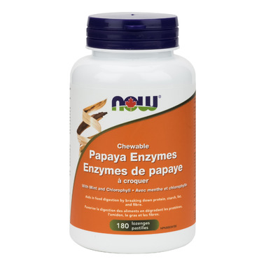 NOW Foods Chewable Papaya Enzymes