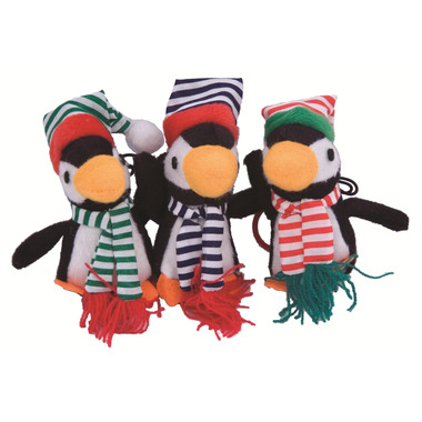 Simon\'s Winter Pals Plush Holiday Penguin Cat Toy With Catnip