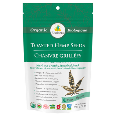 Ecoideas Organic Kelp Toasted Hemp Seeds