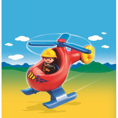 Playmobil 1.2.3 Fire Rescue Helicopter