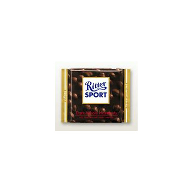 Ritter Sport Dark Whole Hazelnuts Chocolate Bar