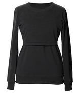 Boob B. Warmer Sweatshirt with Organic Cotton Black