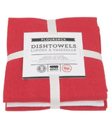 Now Designs Floursack Teatowel Set Red & White