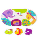 Kushies Jungle Bath Mat and Toy Set