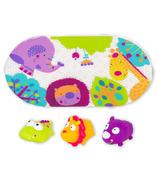 Kushies Jungle Bath Mat and Toy Set