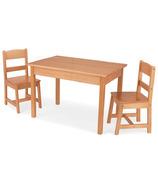 KidKraft Rectangle Table & Chair Set Natural