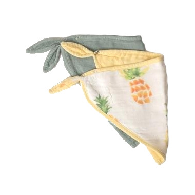Little Unicorn Deluxe Muslin Bandana Bib Pineapple