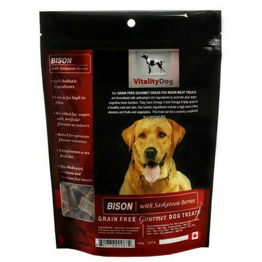 Vitality Dog Bison with Saskatoon Berry Dog Treats