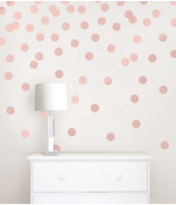 WallPops Rose Gold Confetti Dots