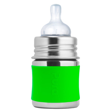 Pura Kiki Infant Bottle With Green Sleeve