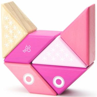 Tegu Magnetic Wooden Blocks Travel Pals Kitty
