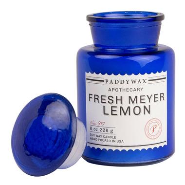 Paddywax Blue Apothecary Fresh Meyer Lemon Candle