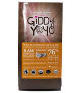 Giddy Yoyo Organic Raw Orange 76% Dark Chocolate Bar