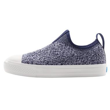 People Footwear Phillips Knit Paddington Blue and Yeti White