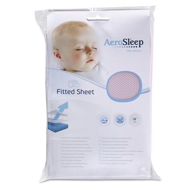 AeroSleep Sleep Safe Fitted Sheet Pink