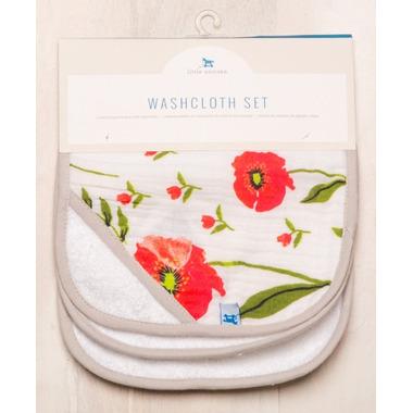 Little Unicorn Cotton Wash Cloth Set Summer Poppy