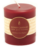 Honey Candles Pure Beeswax 3-inch x 3-inch Pillar Candle
