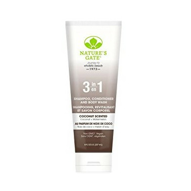 Nature\'s Gate 3-In-1 Coconut Scented Shampoo, Conditioner and Body Wash