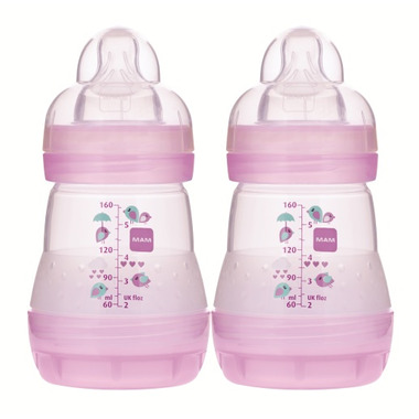 Mam Anti-Colic Bottle 5oz Pink