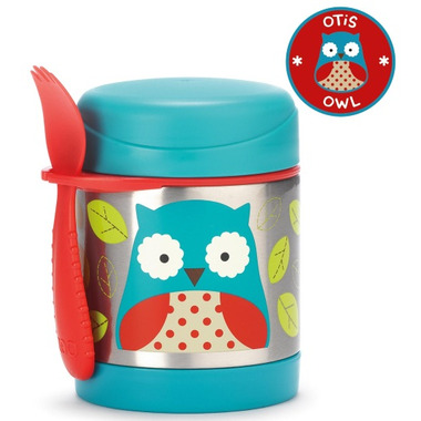 Skip Hop Zoo Insulated Food Jar Owl