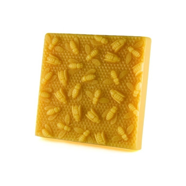 Honey Candles Pure Beeswax Block Bees on Honeycomb