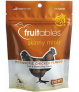 Fruitables Skinny Minis Semi Moist Dog Treats Rotisserie Chicken