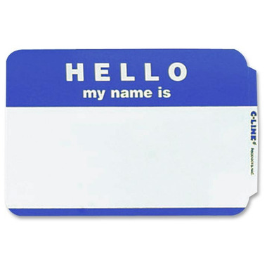 C-Line Self-Adhesive Name Badges