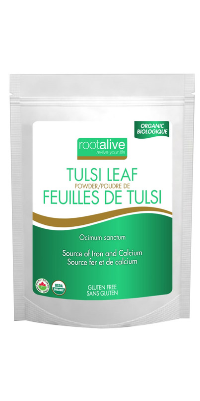 Buy Rootalive Organic Tulsi Leaf Powder at Well ca Free Shipping $35+ in Canada