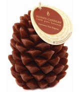 Honey Candles Ponderosa Pine Cone Ornamental Candle Brown