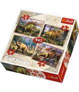 Trefl Dinosaurs 4 in 1 Puzzle