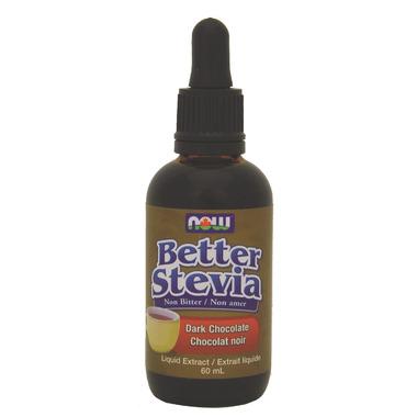 NOW Better Stevia Liquid Sweetener Dark Chocolate