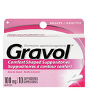 Gravol Comfort Shaped Suppositories