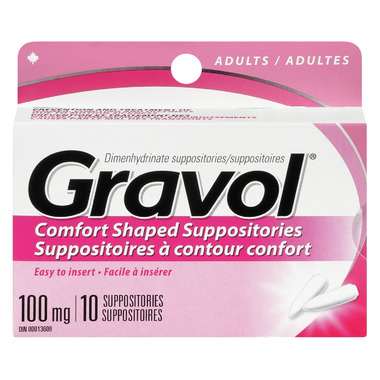 Gravol Comfort Shaped Suppositories