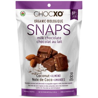 ChocXO Organic Milk Chocolate and Coconut Almond Snaps