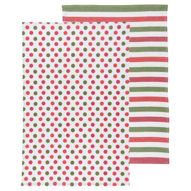 Now Designs Dotty Holiday Dishtowel Set