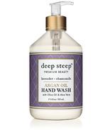Deep Steep Argan Oil Liquid Hand Wash Lavender Chamomile