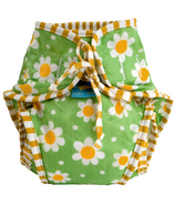 Kushies Washable Swim Diaper Green Daisies