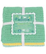 Now Designs Homespun Spring Meadow Dishcloth