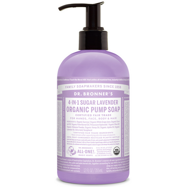 Dr. Bronner\'s 4-in-1 Sugar Lavender Organic Pump Soap
