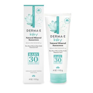Derma E Natural Mineral Sunscreen SPF30 Baby
