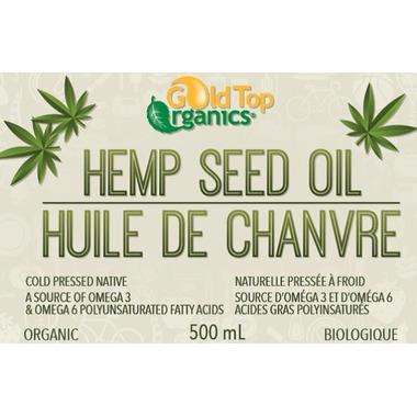 Gold Top Organics Organic Hemp Seed Oil