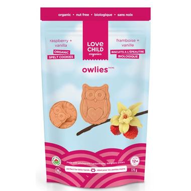 Love Child Organics Owlies Raspberry and Vanilla