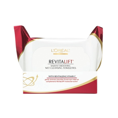 L\'Oreal RevitaLift Radiant Smoothing Wet Cleansing Towelettes